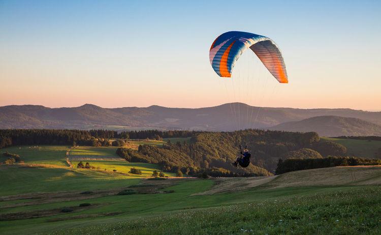 094 Rhoen Paragliding Ausfluege Und Gesunde Umgebung Bad Kissingen