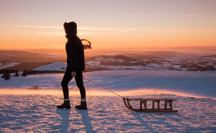 094 Rhoen Schnee Ausfluege Und Gesunde Umgebung Bad Kissingen