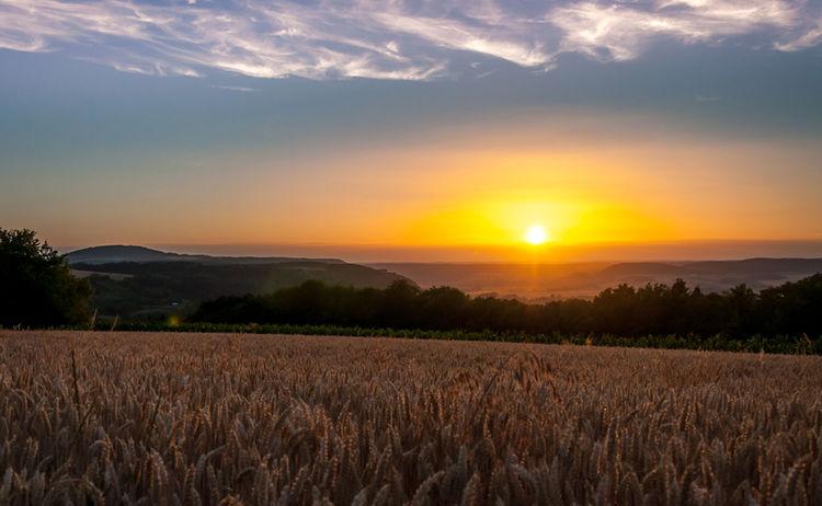 094 Sonnenuntergang Ausfluege Und Gesunde Umgebung Bad Kissingen