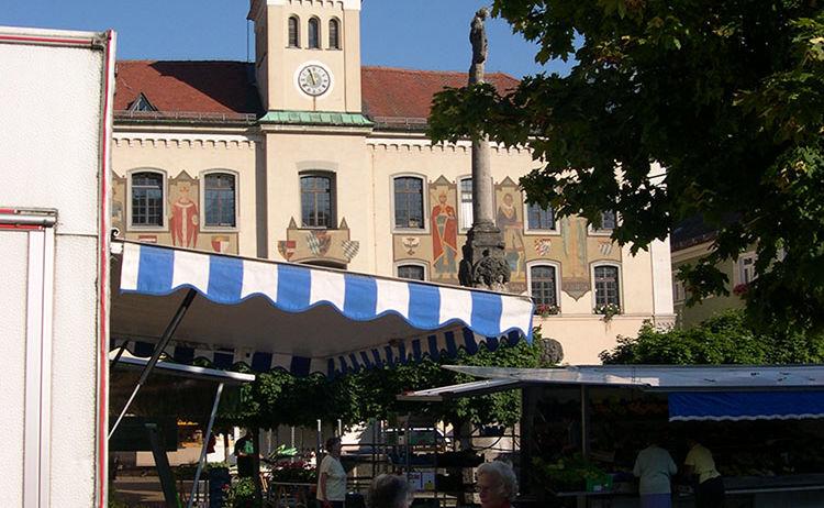 Alpenstadt Rathausplatz Bad Reichenhall 2
